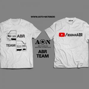 Tricou Alb ABR Team