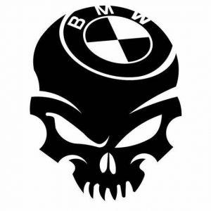 Sticker Craniu BMW